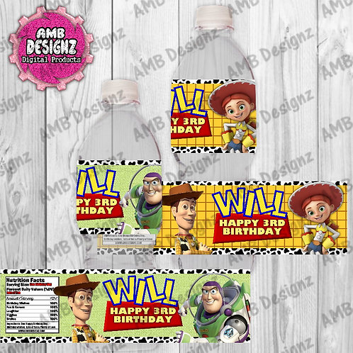 Toy Story Water Bottle Wrap - Toy Story Party Supplies