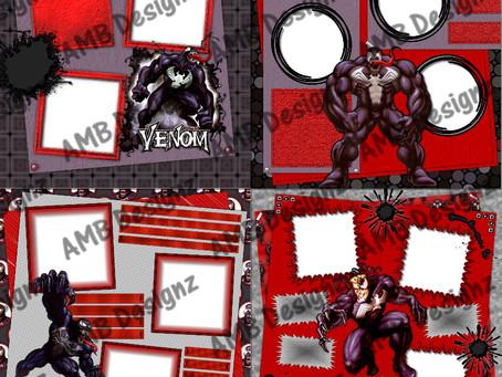 Venom (Spider-man) Digital Scrapbooking Premade Album