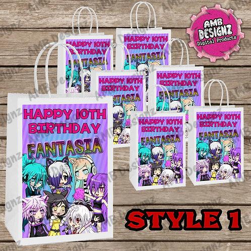 Gacha Life Favor Bag Label Party Supplies - Gacha Life Party Supplies