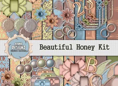 Beautiful Honey Digital Scrapbooking Kit