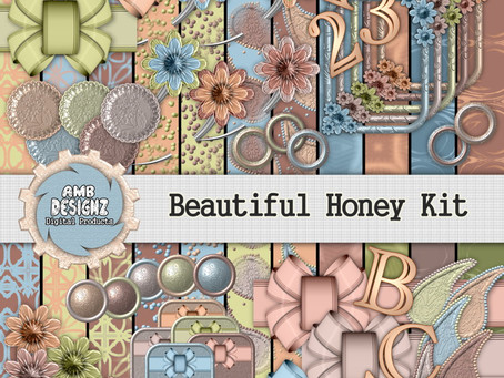Beautiful Honey Digital Scrapbooking Kit