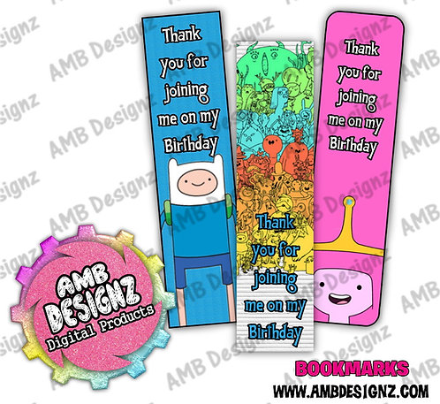 Adventure Time Bookmark Party Favors - Adventure Time Party Supplies