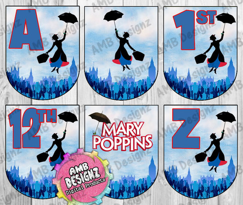 Mary Poppins Party Banner Mary Poppins Party Supplies
