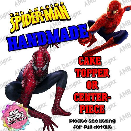 Spiderman Cake Topper Centerpiece