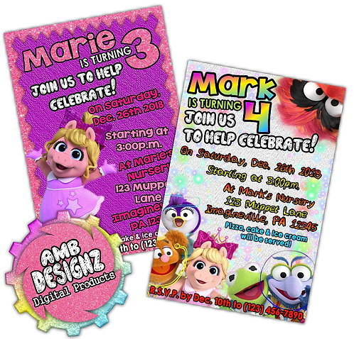 Muppet Babies invitations Party Supplies