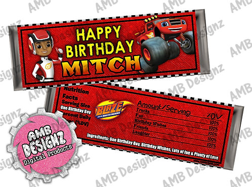Blaze and the monster machines Bar Wrap, Blaze Party Supplies