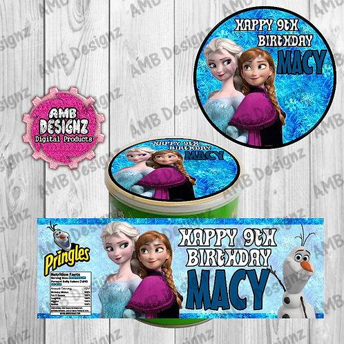 Disney Frozen Pringles Can Labels - Disney Frozen Party Supplies
