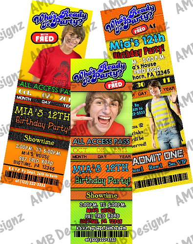 FRED Figglehorn Invitations