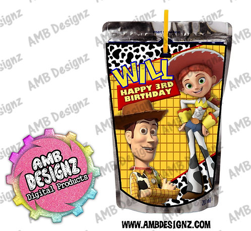 Toy Story Capri-Sun Juice Pouch Label - Toy Story Party Supplies