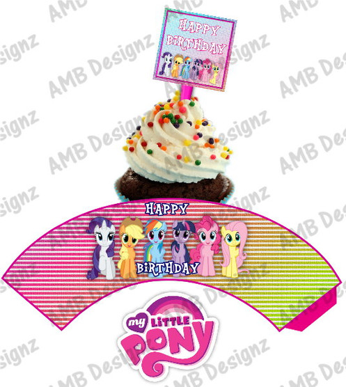 My Little Pony Cupcake Toppers Wrapper