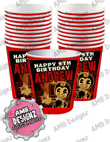 Bendy and the ink Machine Party Cups - Bendy & the ink Machine Party Supplies