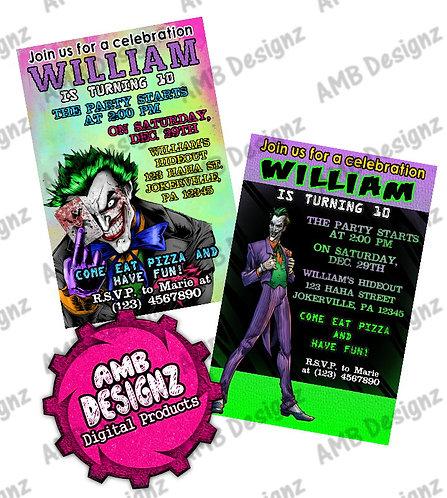 Joker Invitations - Joker Party Supplies