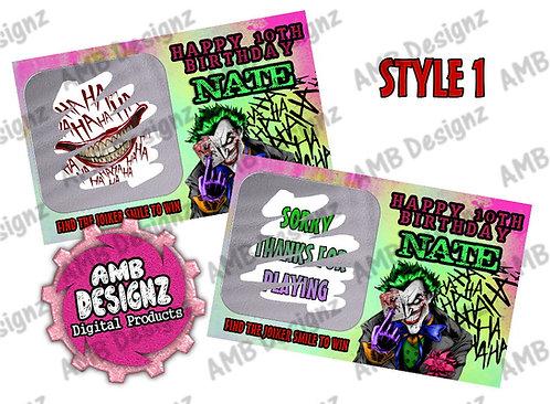 Joker Scratch Off Ticket Favor - Joker Party Supplies
