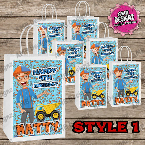 Blippi Favor Bag Label Party Supplies - Blippi Party Supplies
