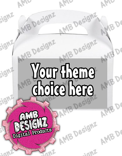 Custom Gable Box/Treat Box Label Party Supplies
