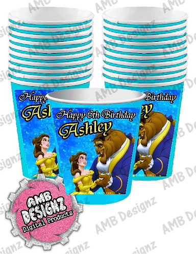 Beauty and the Beast Party Cups Party Supplies