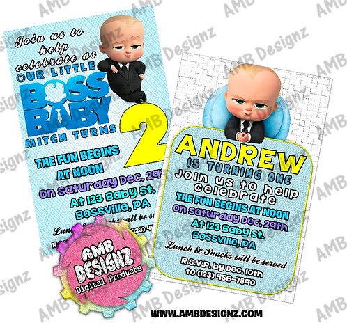 Boss Baby invitations - Boss Baby Party Supplies