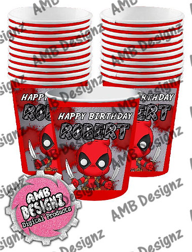 Deadpool Party Cups Party Supplies