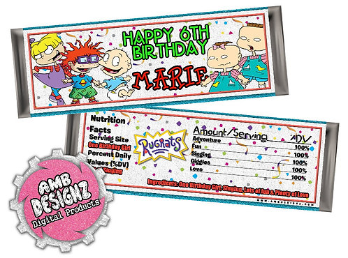 Rugrats Candy Bar Wrapper - Rugrats Party Supplies