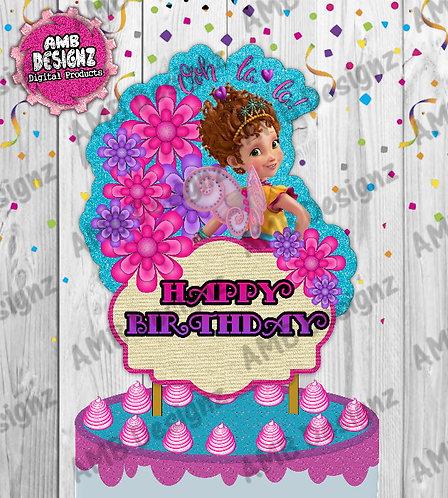 Fancy Nancy Cake Topper Centerpiece