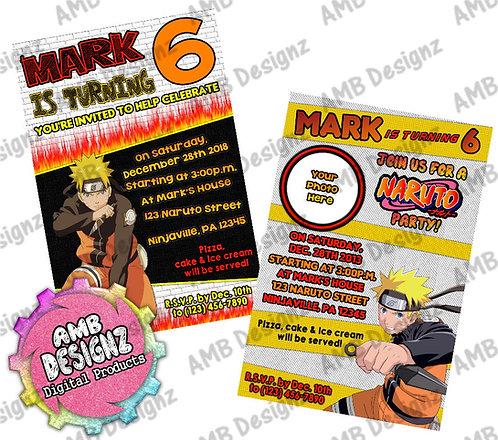 Naruto Invitations - Naruto Party Supplies