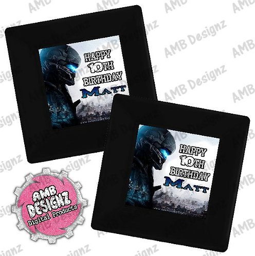Halo Party Plates Party Supplies