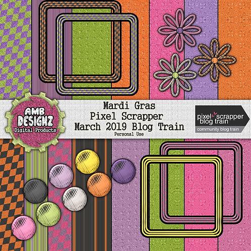 Mardi Gras mini Scrapbooking Kit