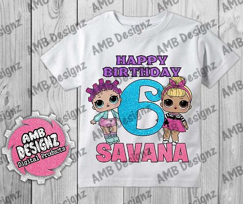 LOL Surprise T-Shirt Birthday Image - LOL Surprise Party Supplies