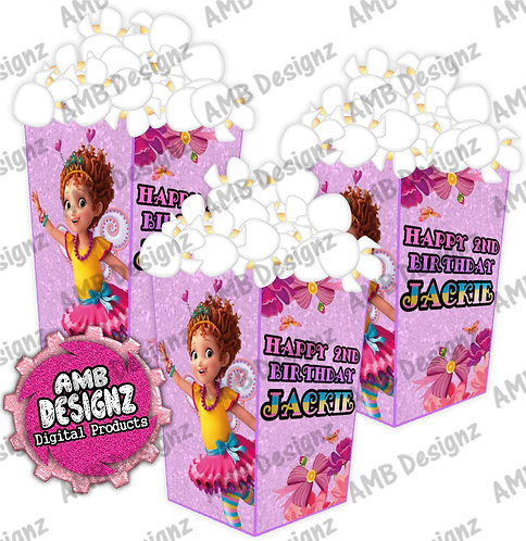 Fancy Nancy Popcorn Box Favor - Fancy Nancy Party Supplies