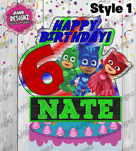 PJ Mask Cake Topper Centerpiece - PJ Mask Party Supplies