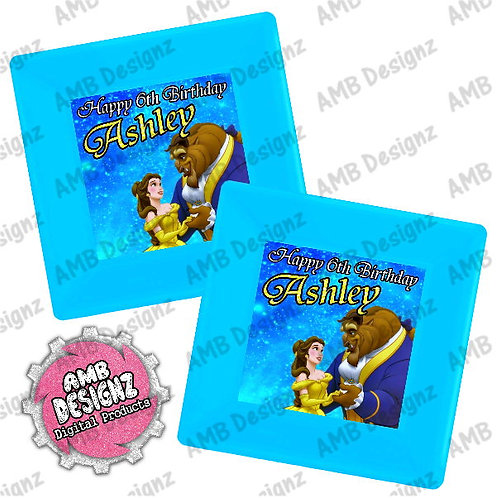 Beauty and the Beast Party Plates Party Supplies