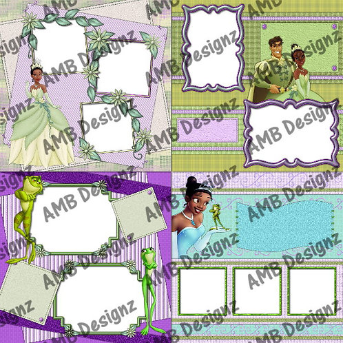 Disney's Tiana Princess & the Frog Digital Scrapbooking Premade Album/Pages