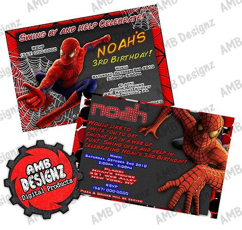 Spiderman Superhero Invitations Party Supplies