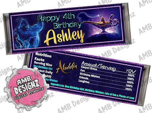 Aladdin Candy Bar Wrapper, Aladdin Party Supplies