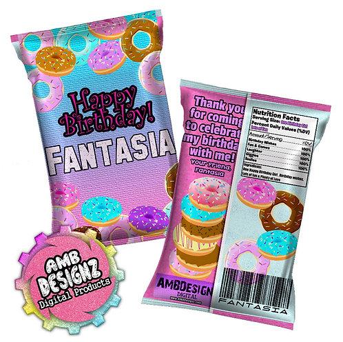Donut Shop Chip Bag Party Favor Party Supplies