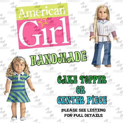 American Girl Cake Topper Centerpiece