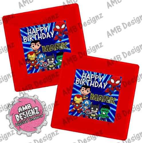Superhero Plates Party Supplies