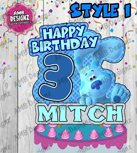 Blues Clues Cake Topper Centerpiece - Blues Clues Party Supplies