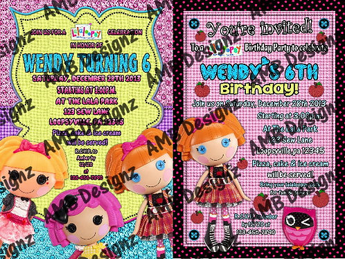 Lalaloopsy Invitations