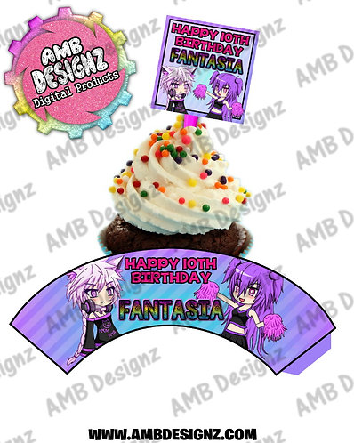 Gotcha Life Cupcake Topper and Gotcha Life Cupcake Gotcha Life Party Supplies
