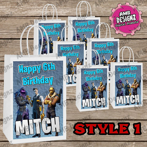 Fortnite Favor Bag Label Party Supplies - Fortnite Party Supplies