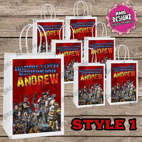 Apex Legends Favor Bag Label Party Supplies - Apex Legends Party Supplies