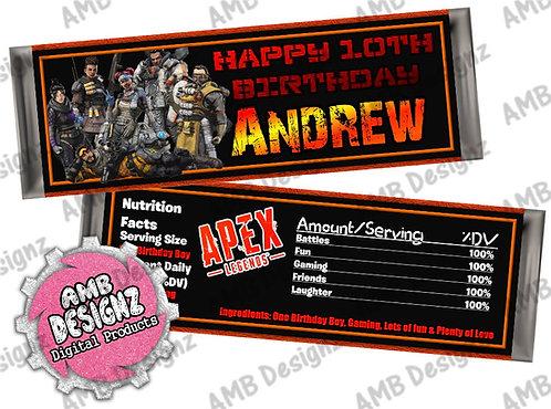 Apex Legends Candy Bar Wrapper - Apex Legends Party Supplies