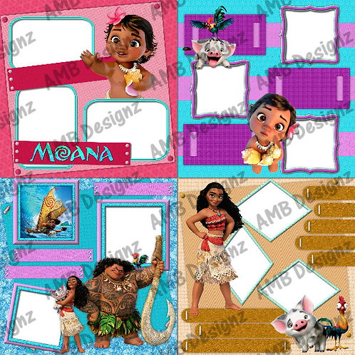 Disney's Moana Digital Scrapbooking Premade Album/Pages