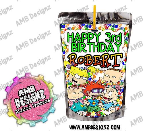 Rugrats Juice Pouch Label - Rugrats Party Supplies