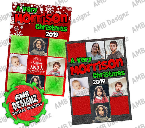 Brady Bunch Christmas Greeting Card - A Very Brady Christmas Photo card