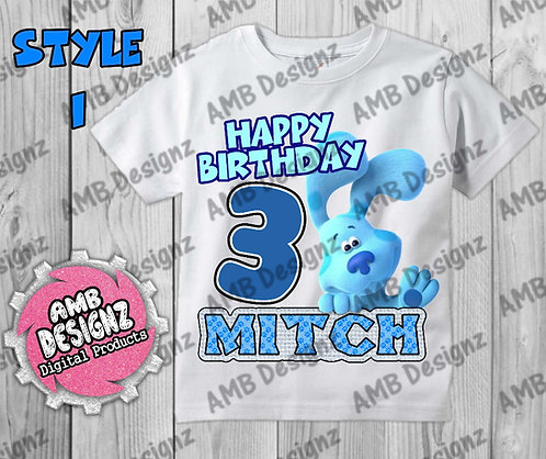 Blues Clues T-Shirt Birthday Image - Blues Clues Party Supplies