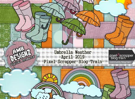 Umbrella Weather - April 2019 Pixel Scrapper Blog Train