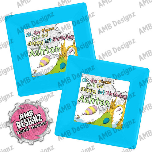 Oh, the Places You'll Go Party Plates - Oh, the Places You'll Go Party Supplies