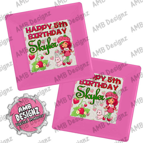 Strawberry Shortcake Party Plates - Strawberry Shortcake Party Supplies